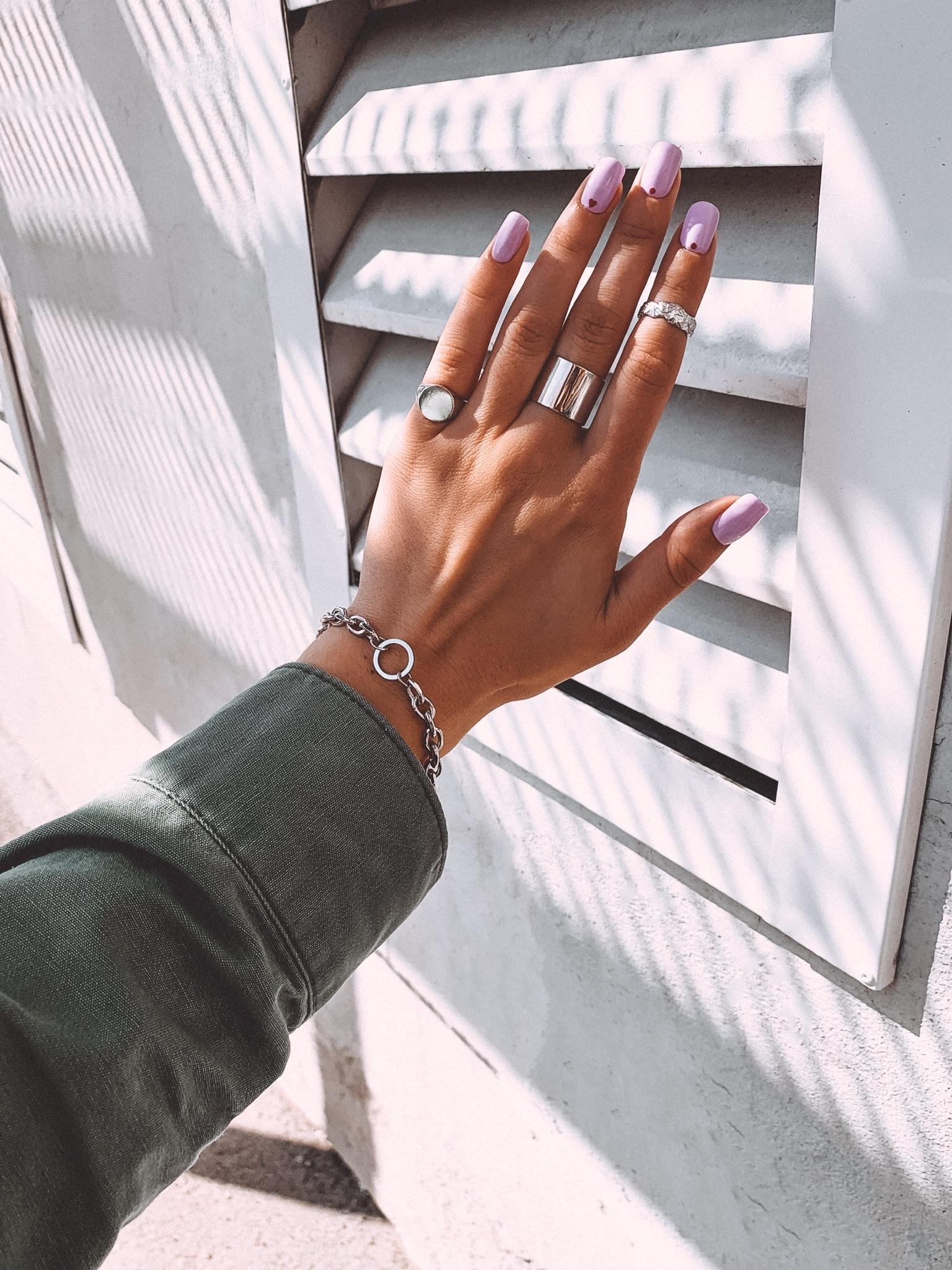 Серебрянный массивный браслет с кольцом