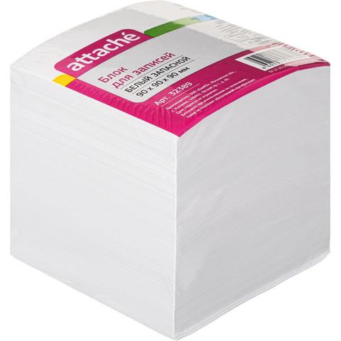 Блок для записей Attache 90x90x90 мм белый (плотность 80-100 г/кв.м)