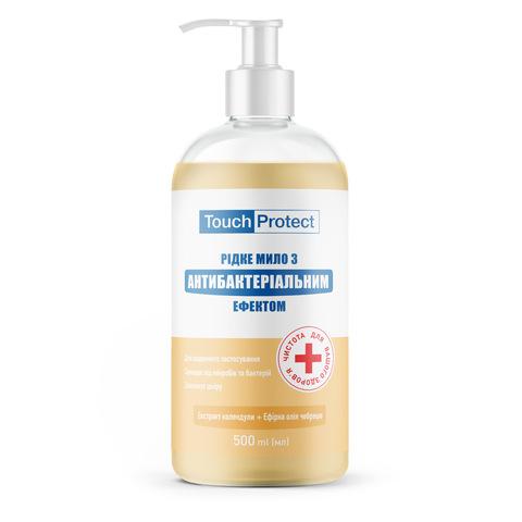 Рідке мило з антибактеріальним ефектом Календула-Чебрець Touch Protect 500 мл (1)