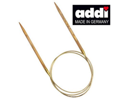 Спицы круговые из оливкового дерева 80 см ADDI NATURE - 6 мм арт. 575-7/6-80