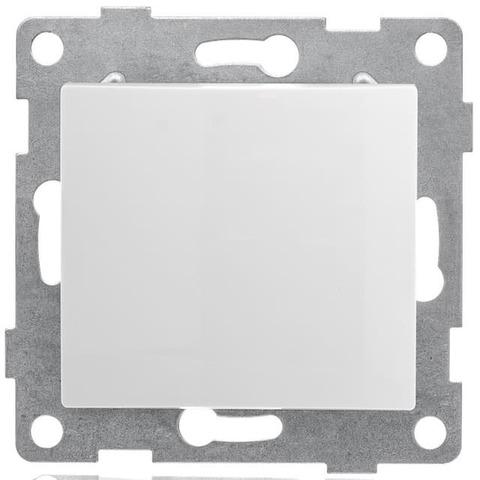 Выключатель/кнопка звонка одноклавишный, 10 А 220/250 В~. Цвет Белый. Bravo GUSI Electric. С10В6-001