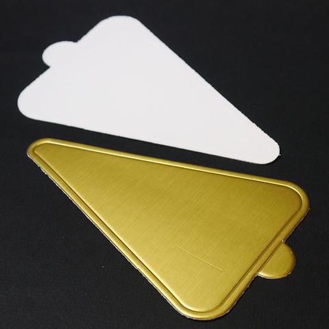 Подложка с держателем,треугольник, 77*116мм, зол/бел
