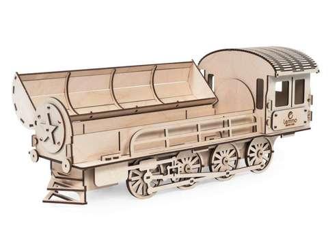 Подарочный Паровоз от Lemmo - Деревянный 3D конструктор для взрослых. подарочная упаковка