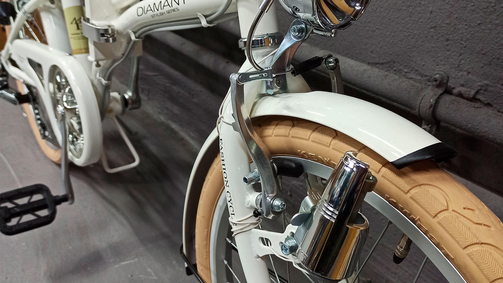 вилка переднего колеса складного велосипеда