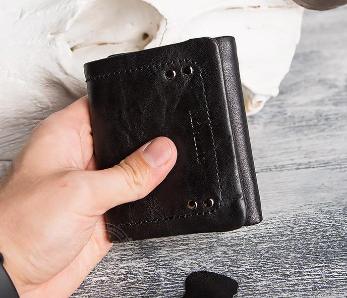 WL286-1 Мужской кожаный кошелек с монетницей фото 13