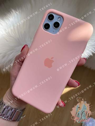 Чехол iPhone 11 Pro Silicone Case /grapefruit/ розовый грейпфрут original quality
