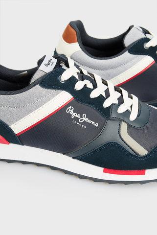 Мужские синие кроссовки CROSS 4 TECH Pepe Jeans