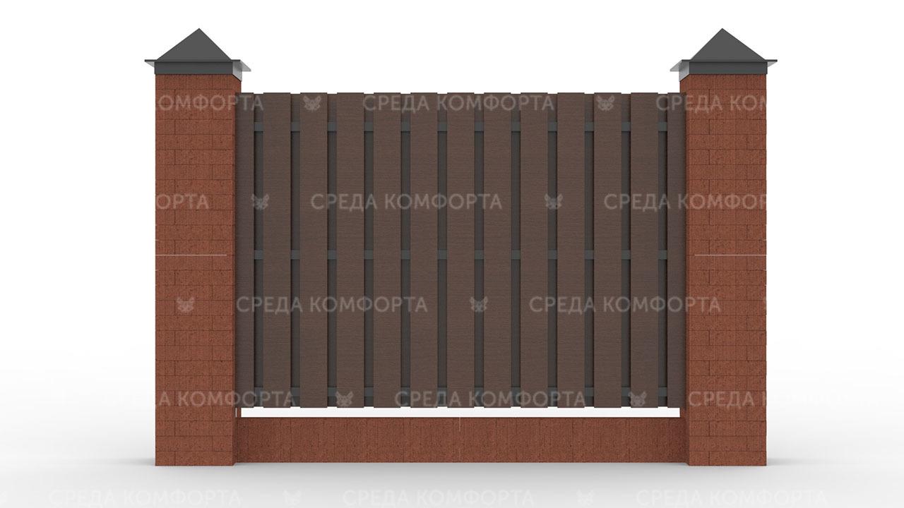 Деревянный забор ZBR0010