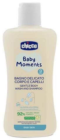 Chicco. Нежная пена для тела и волос Baby Moments 0+, 200 мл