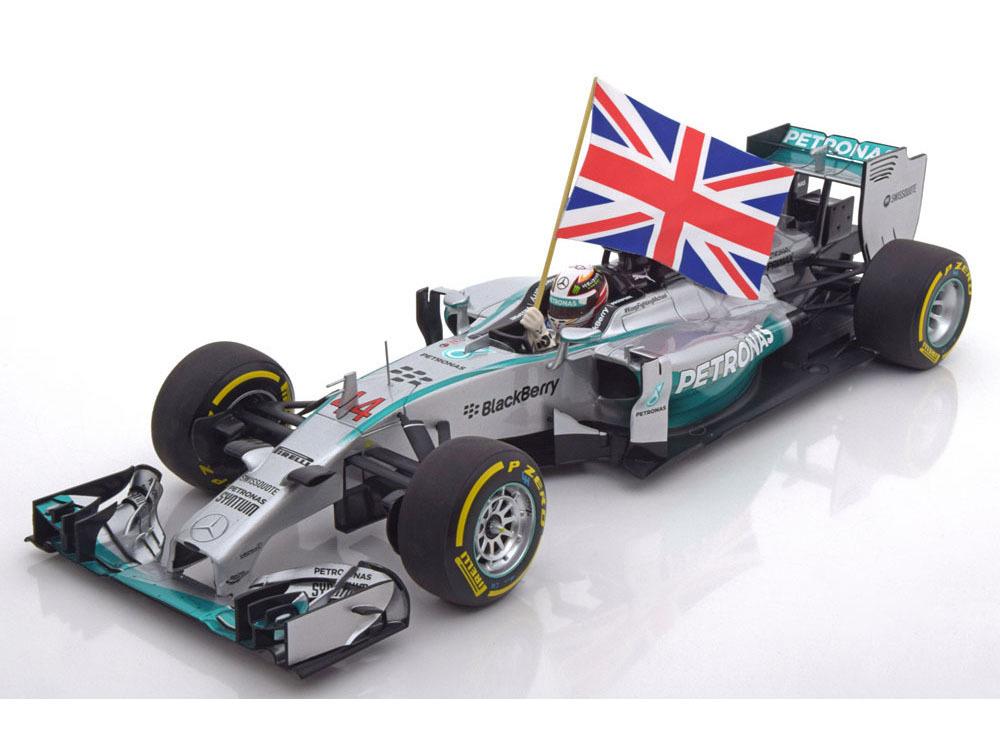 Коллекционная модель Mercedes-Benz AMG Petronas F1 Team W05 Lewis Hamilton Winner Abu Dhabi GP 2014 W.Flag