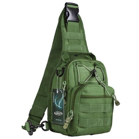 Тактический однолямочный рюкзак G4Free D04V Олива