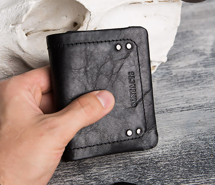 WL286-1 Мужской кожаный кошелек с монетницей фото 14