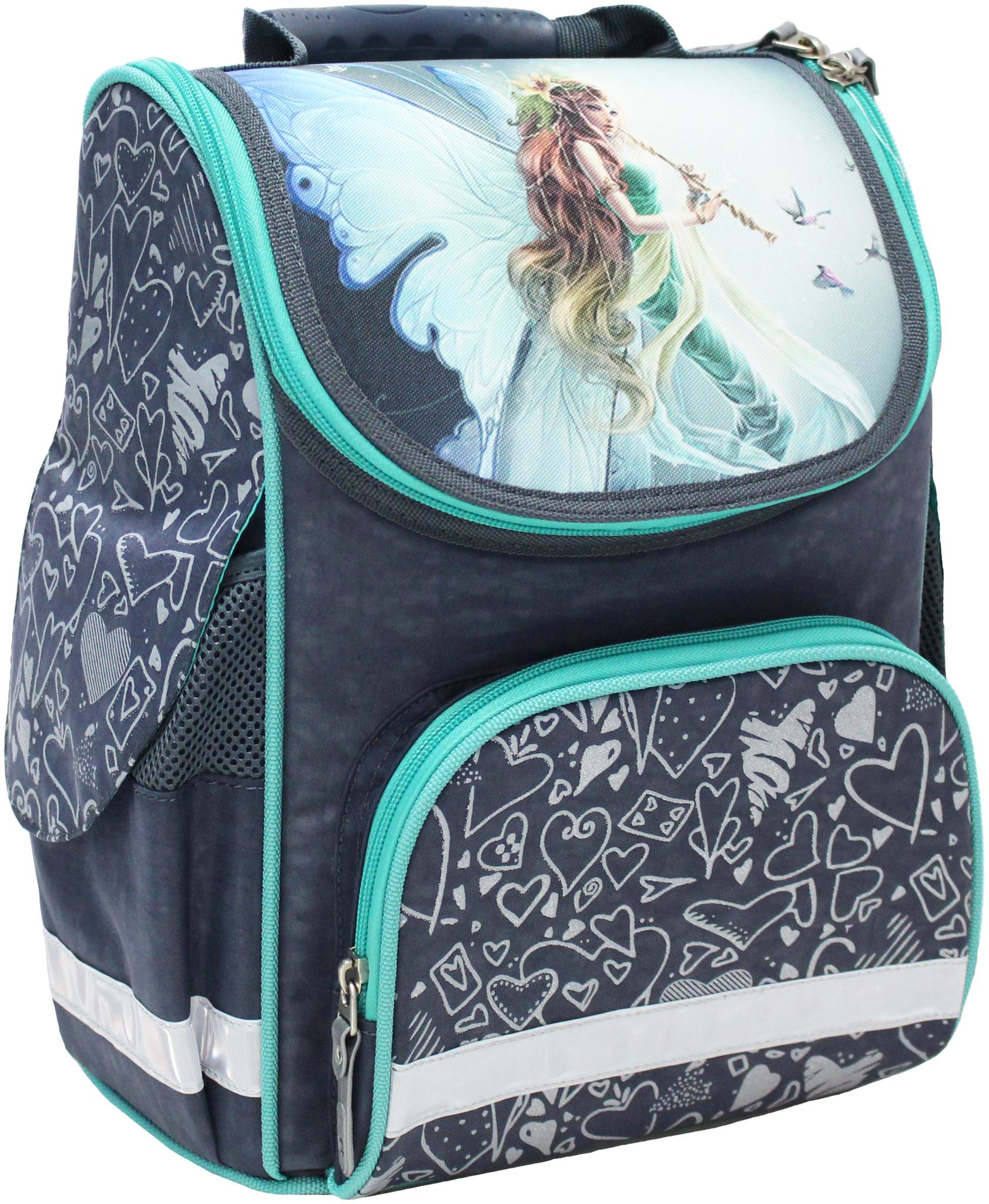 Школьные рюкзаки Рюкзак школьный каркасный Bagland Успех 12 л. 321 сірий 90 д (00551702) IMG_4710.JPG