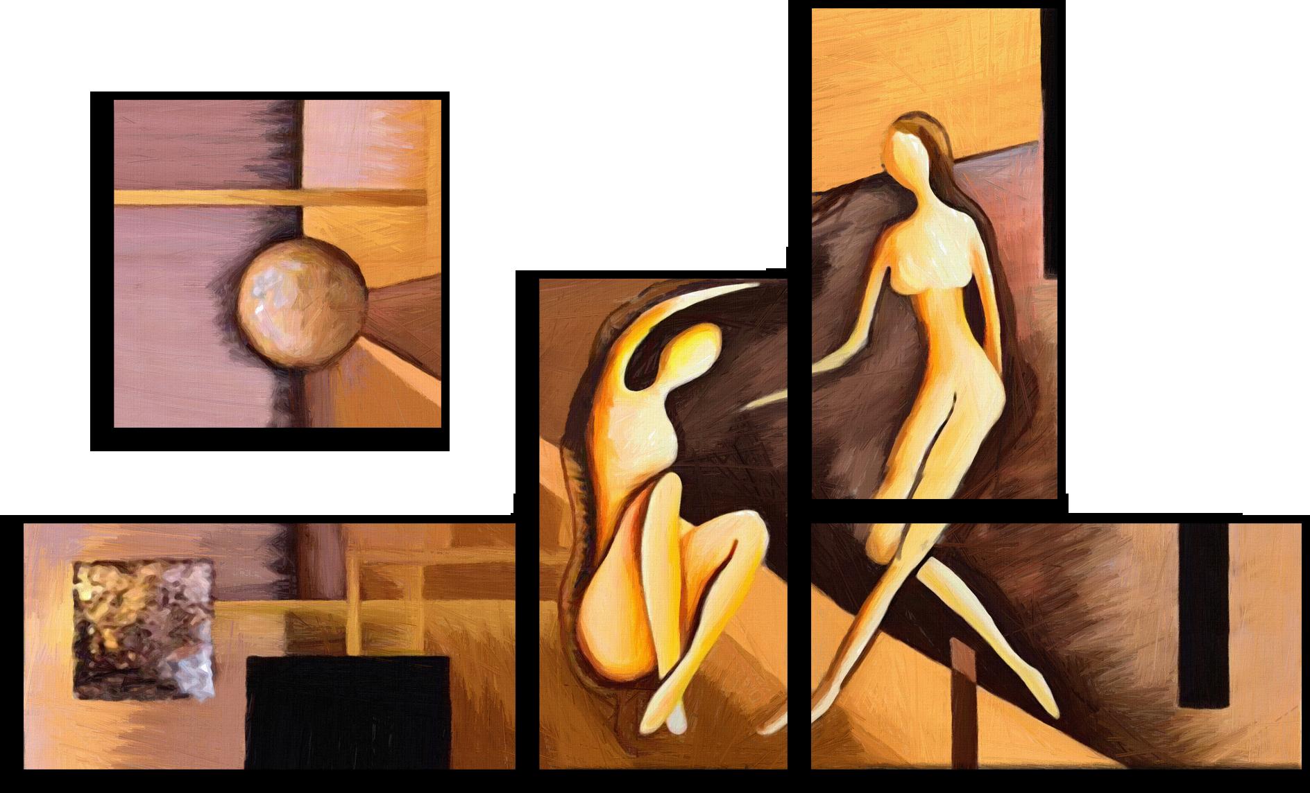 """Модульные картины Модульная картина """"Влюбленные силуэты"""" М185.png"""