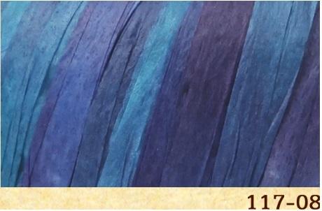 Пряжа Fibra Natura Raffia multi 117-08 атлантика