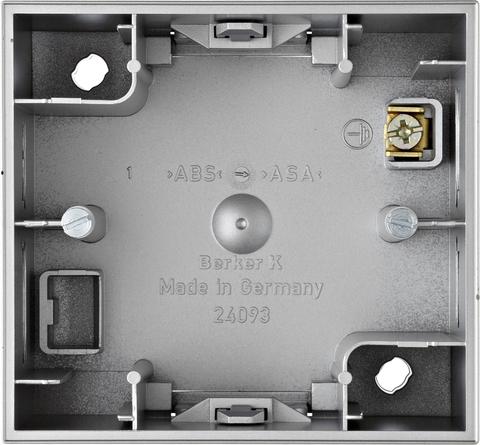 Коробка на 1 пост для наружного монтажа. Цвет Алюминий. Berker (Беркер). K.5. 10417003