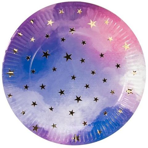 Тарелки (9''/23 см) Звездное небо, 6 шт.