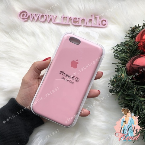 Чехол iPhone 6+/6s+ Silicone Case /light pink/ розовый original quality