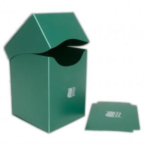 Пластиковая коробочка Blackfire вертикальная - зеленая (100+ карт)