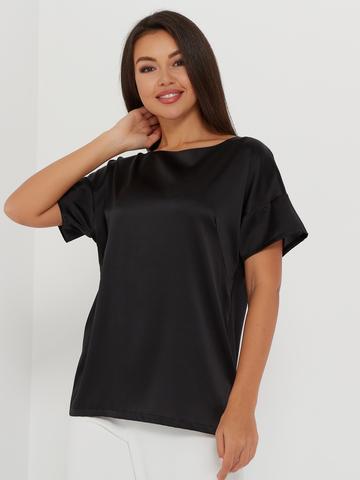 Блузка из натурального шелка с коротким рукавом от SILKME