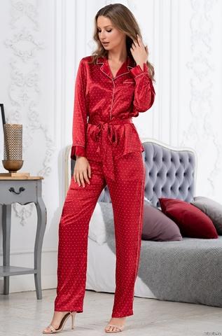 Брючный комплект для дома  Mia-Amore  DOROTHY ДОРОТИ 8706 красная