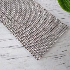 Стразы на клеевой основе 90х430 - серебро