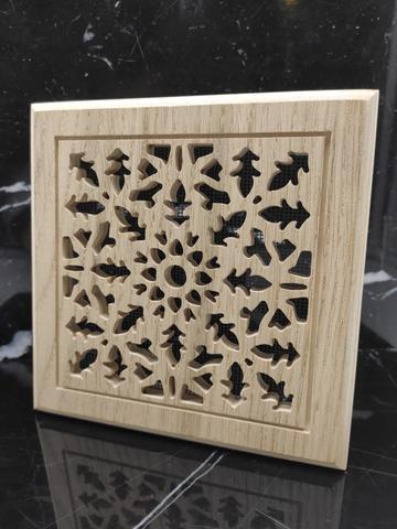 Решетка декоративная деревянная на магнитах Пересвет К-06 150х150мм