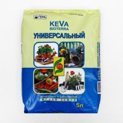 Keva Bioterra универсал. с биогумусом 5л.Гера