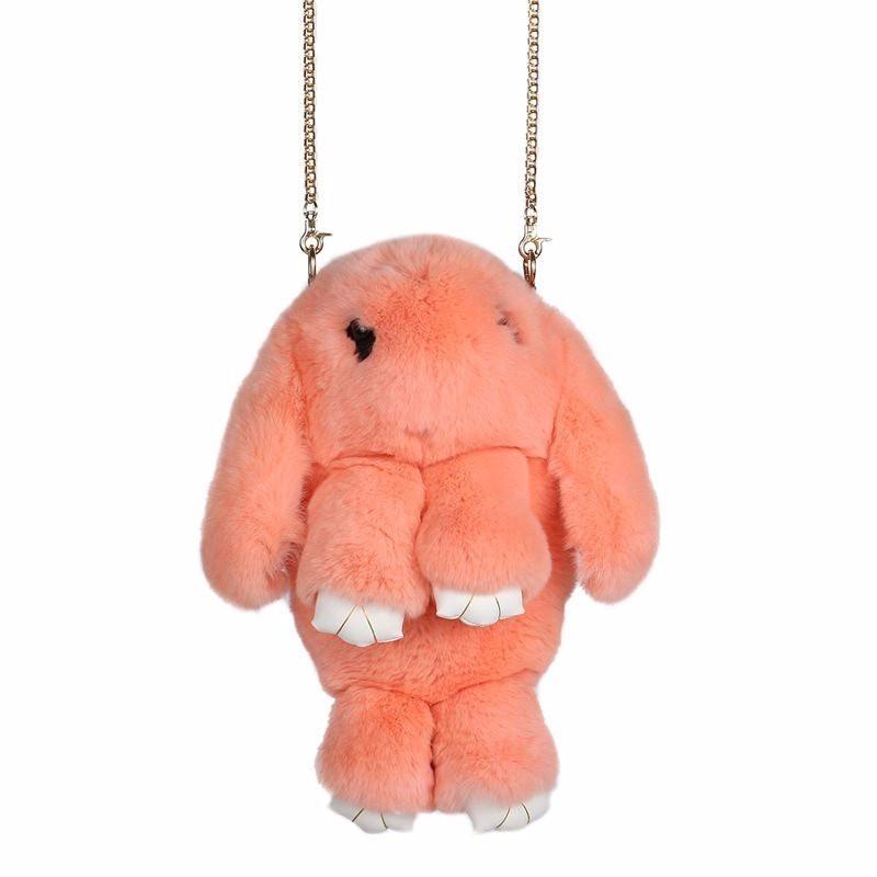 Персиковый вариант цвета сумки кролик