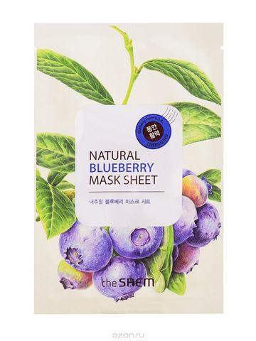 Маска тканевая с экстрактом черники The Saem Natural Blueberry Mask Sheet