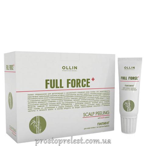 Ollin Professional Full Force Scalp Peeling - Пілінг для шкіри голови з екстрактом бамбука