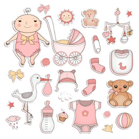 Печать на вафельной бумаге, Набор с Новорожденным 1