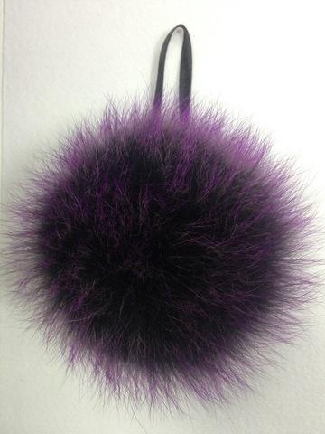 Помпон из меха песца , d-14-17см (фиолет)