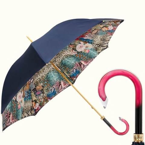 Новая коллекция, зонтик питон синий цвет