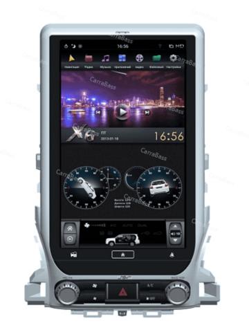 Магнитола для Toyota LC 200 (2016+) Tesla Android 9.0 4/64GB IPS DSP  модель ZF-1807H-DSP