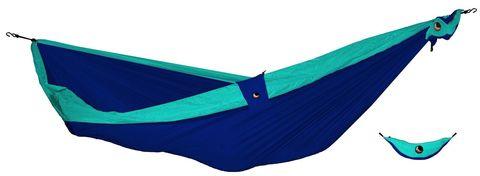 Картинка гамак туристический Ticket to the Moon compact hammock Navy - Turquoise - 1