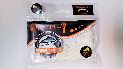 Силиконовая приманка FreshLures FlipWorm цвет 104, вкус сыра
