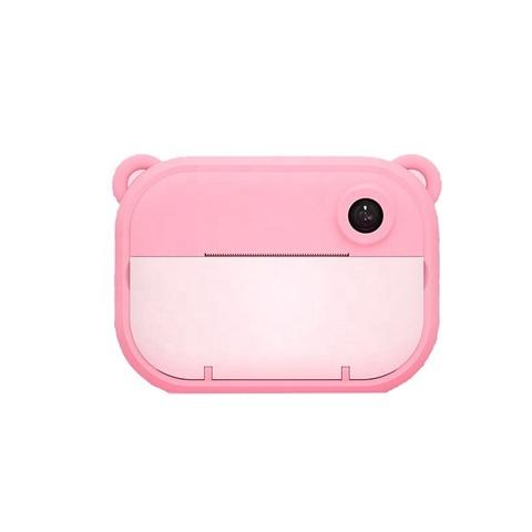 Детский фотоаппарат моментальной печати розовый