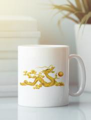 Кружка с изображением Дракон (Dragon) белая 0010