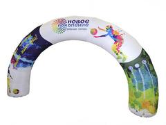 Надувная арка Круглая (полноцветная печать)