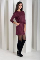 Ксена. Практичное молодежное платье. Бордо