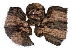 Шарф жатка коричневый 0456