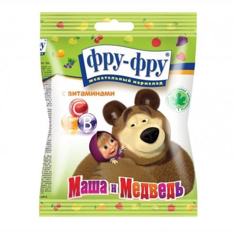 Мармелад жев ФРУ-ФРУ Маша и Медведь Азбука с витаминами 30 г РОССИЯ