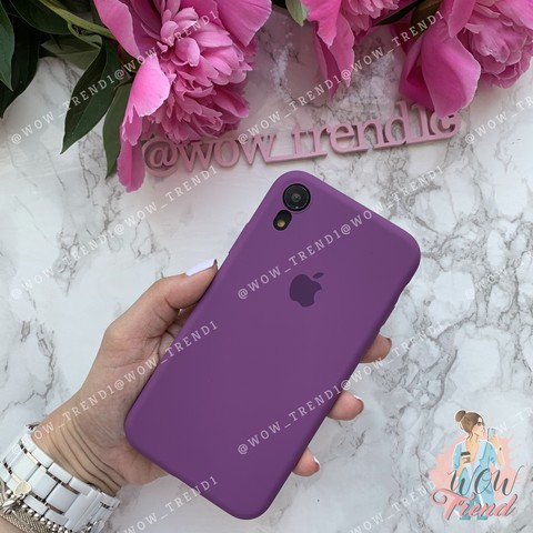 Чехол iPhone XR Silicone Slim Case /purple/