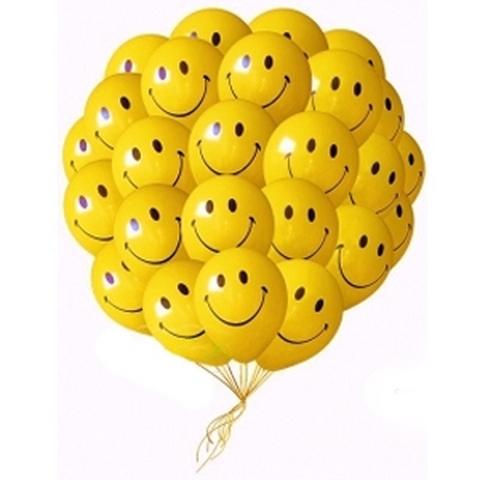 Воздушные шары Смайлы желтые