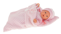 Munecas Antonio Juan Кукла Мерсе в розовом в конверте, плач., 27 см (1115P)