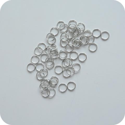 Соединительное кольцо 9 мм, серебро