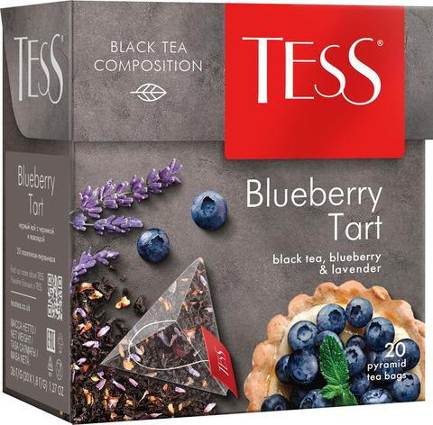 """Чай черный """"Tess"""" Блюберри Тарт 20 пирамидок"""