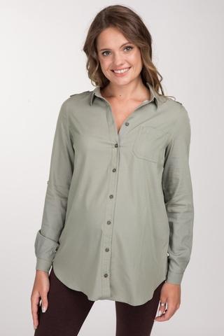Рубашка для беременных 10787 хаки