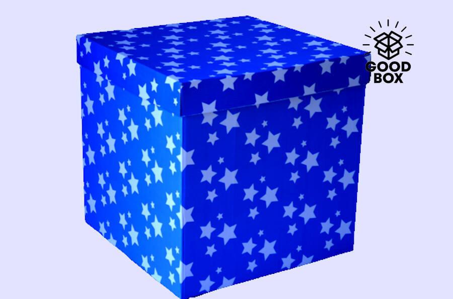 Красивая подарочная коробка для шаров купить в Казахстане